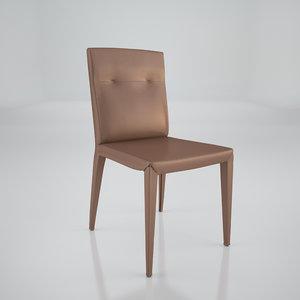 agatha flex chair cattelan 3d model