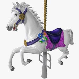 3d carousel horse
