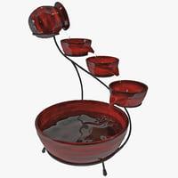Cascade Solar Water Fountain