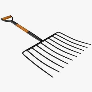 3d ensilage fork