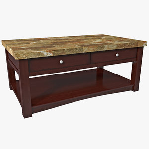 faux marble coffee table 3d 3ds