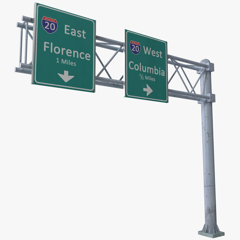 highway signage 2 3d model