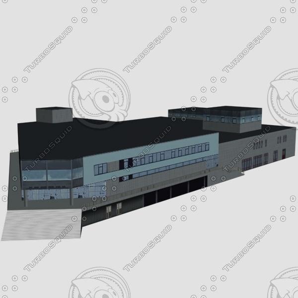 3d model store building
