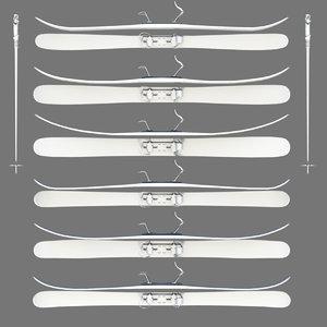 ski board 3d obj
