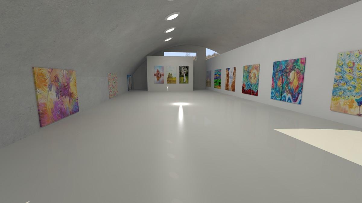 art gallery obj