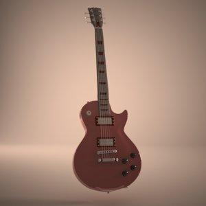realistc les paul guitar 3ds