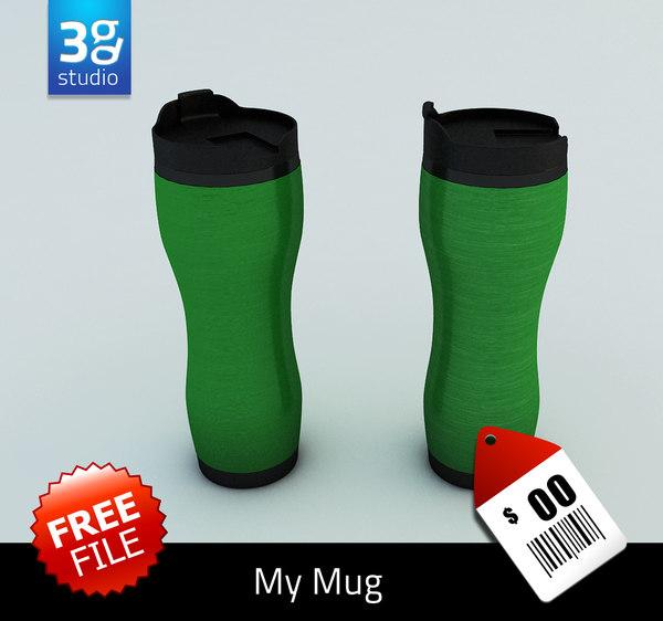 free 3ds mode aluminum mug