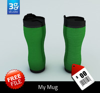 free 3ds mode aluminum mug