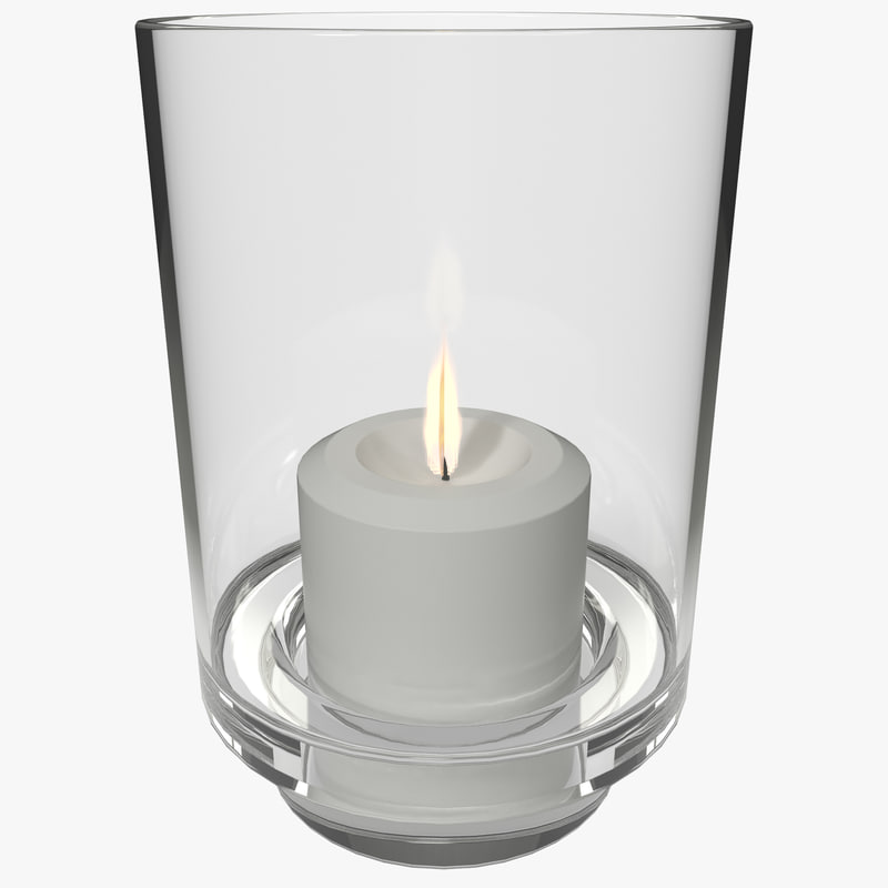 3d mainstays glass candle holder model
