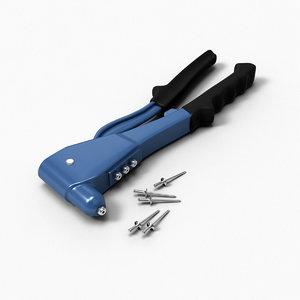 rivet tool 3d model