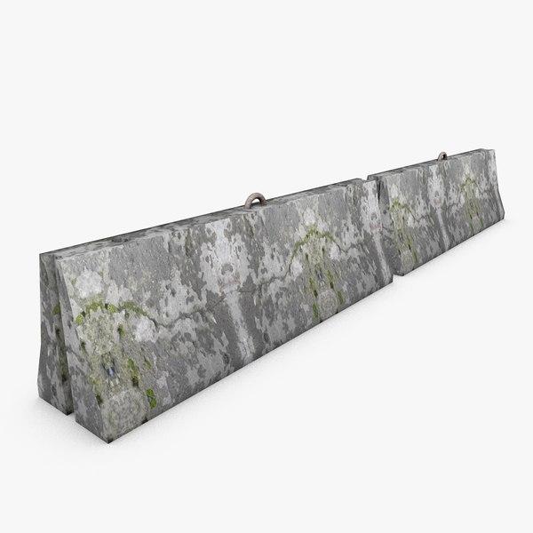 3d road concrete barrier model