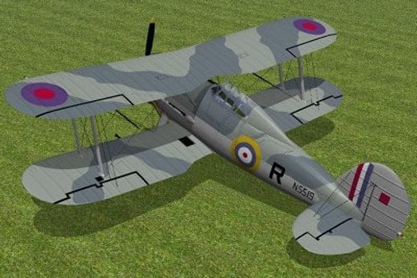max gloster gladiator fighter sea