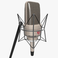 3d max vintage mounted microphone
