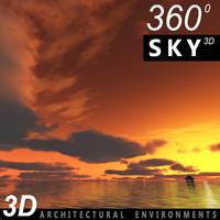 Sky 3D Sunset 013
