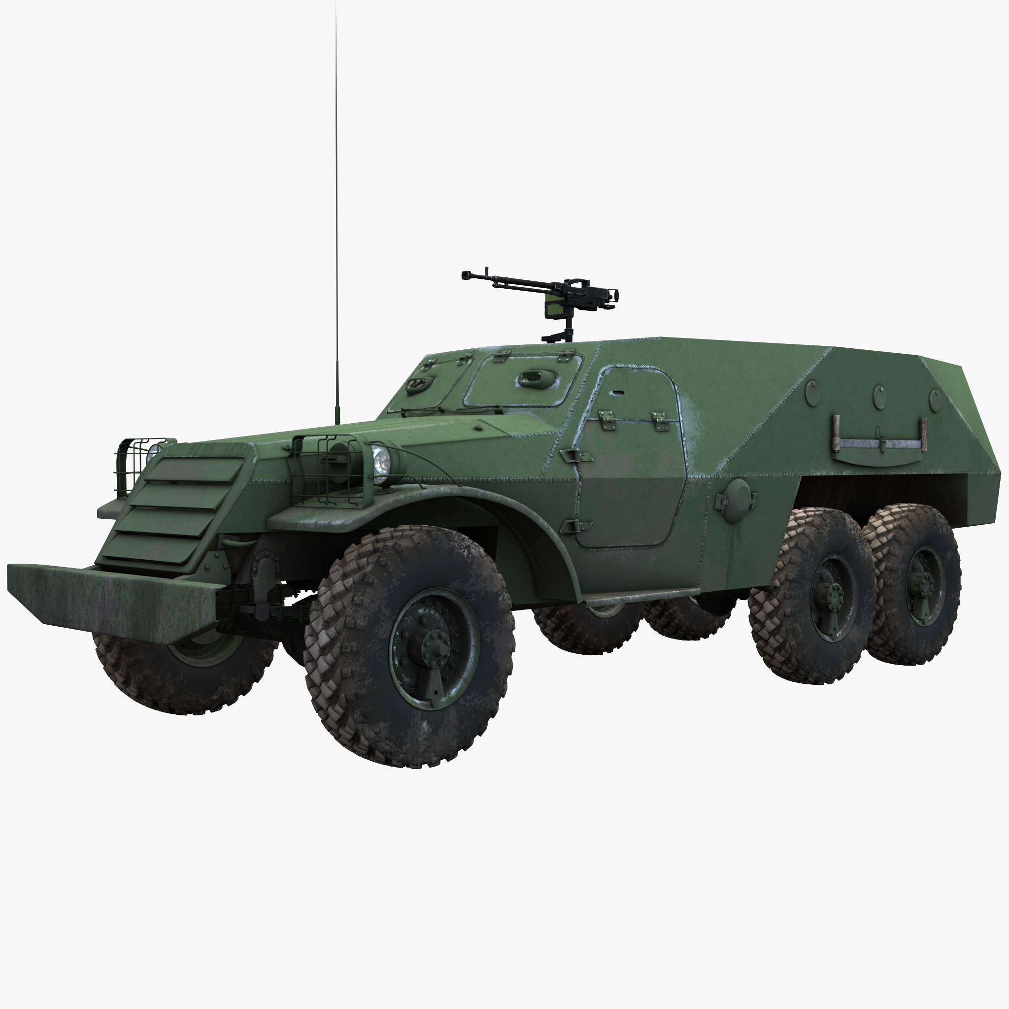 3ds max soviet armored personnel carrier