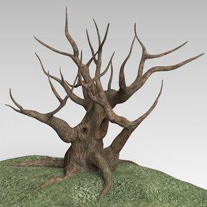 grass tree 3d obj