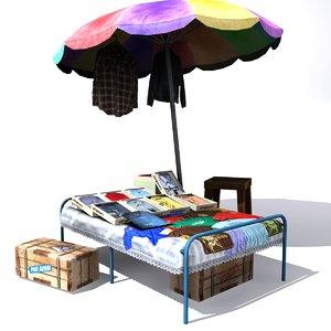 3d indian cloth shop model