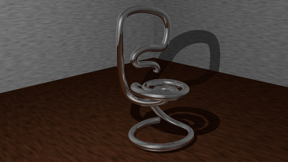 3d model cool metal chair