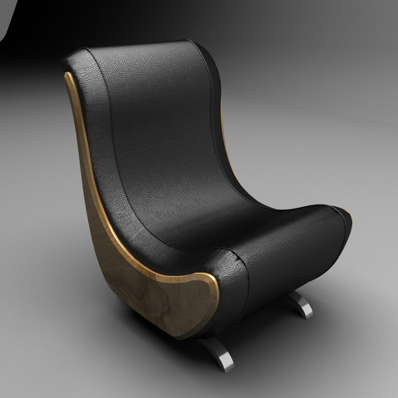 3d model lather chair