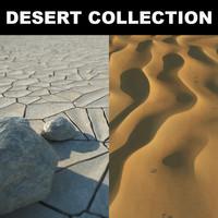 3d stones realistic desert