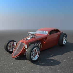 hotrod concept car hot rod obj