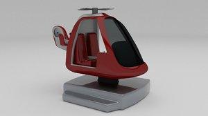 coast kiddie ride 3d model