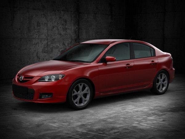 3d model mazda 3 sedan