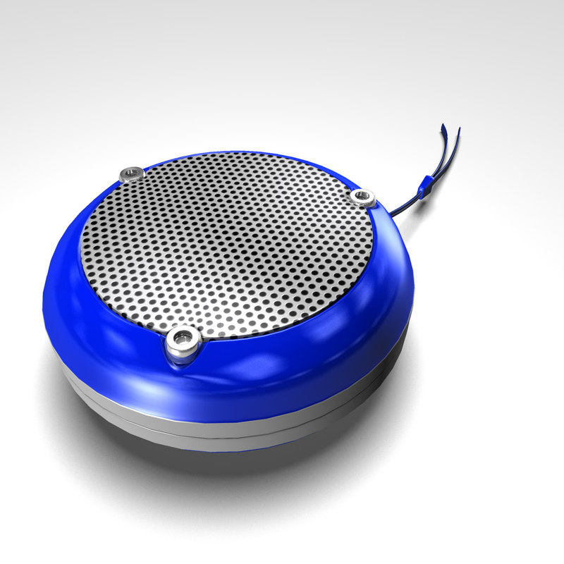 3d blue speaker