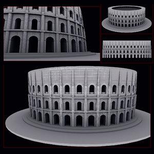 roman amphitheatre 3d max