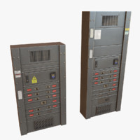 electrical boxes 3d obj
