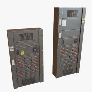 electrical boxes 3d obj