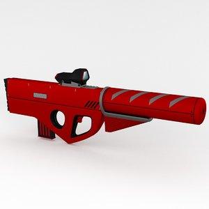 futuristic rifle suppressor max