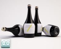 c4d bottles wine