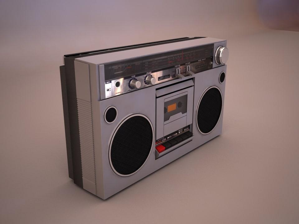 sanyo radio retro max
