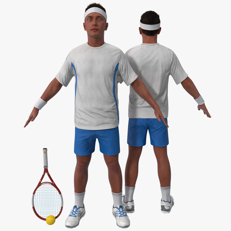 3d tennis player rigged 2