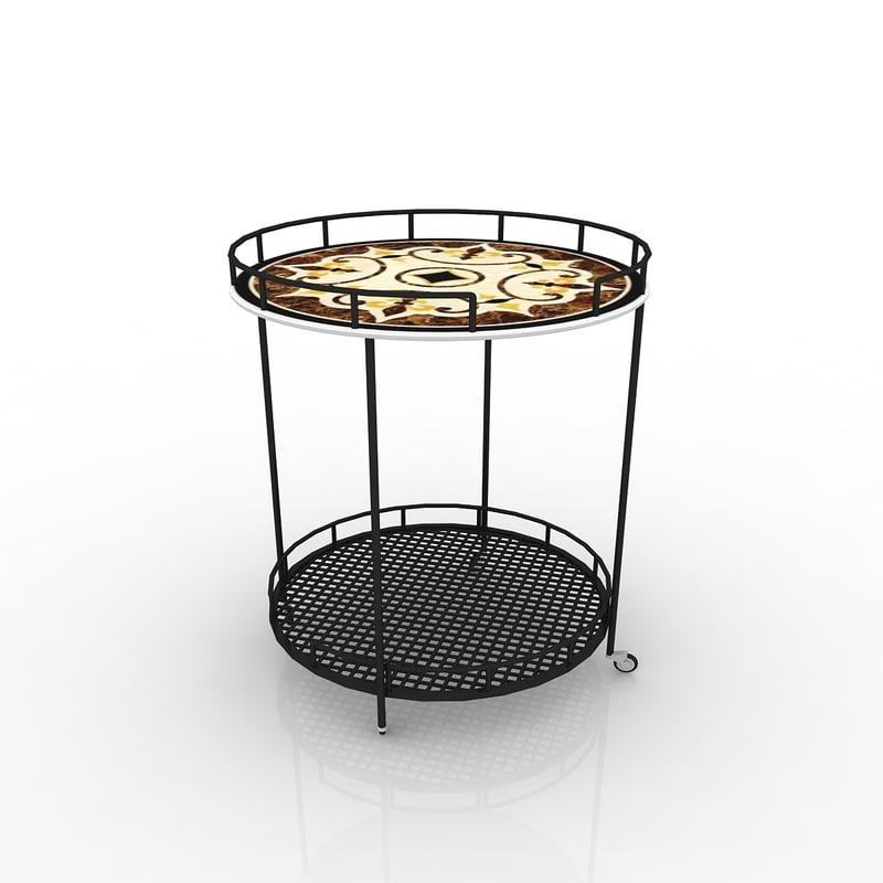 outdoor serving carts 3d model