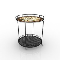 outdoor serving carts 3d model