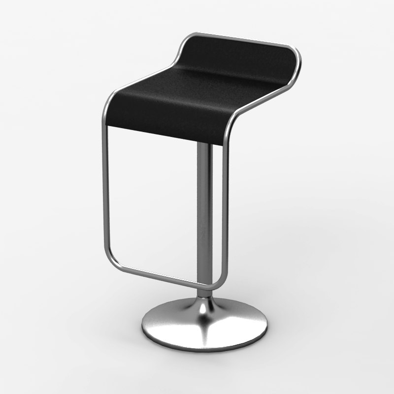 bar chair 3d obj