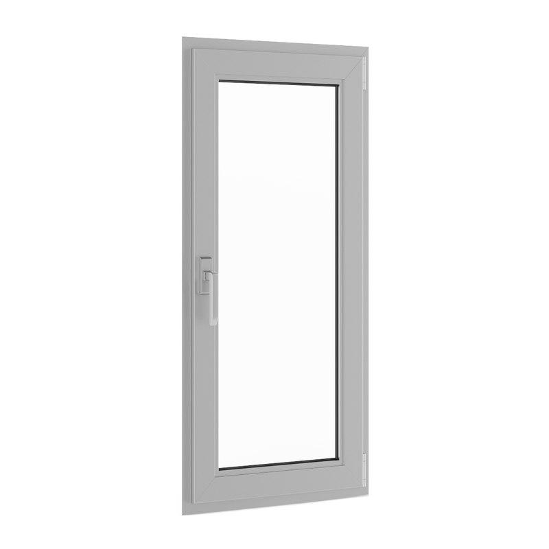 3d model openable metal window 620mm