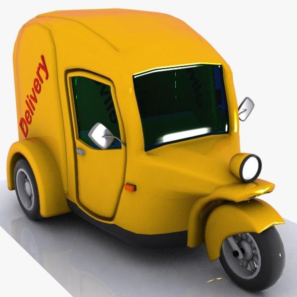3d cartoon tricycle car
