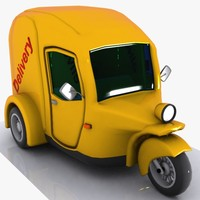 3d cartoon tricycle car