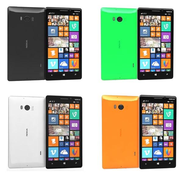 nokia lumia 930 colors lwo