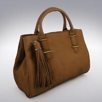 Leather Handbag Crocodile Embossed - 3D Scanned