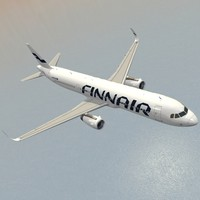 sharkleted airbus a321neo finnair 3d model