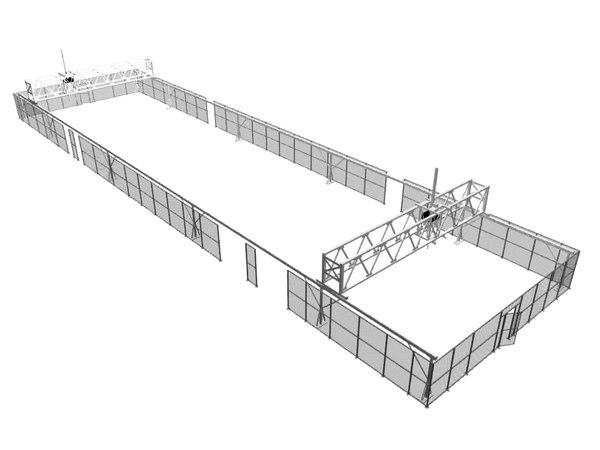 3d asrs gantry crane