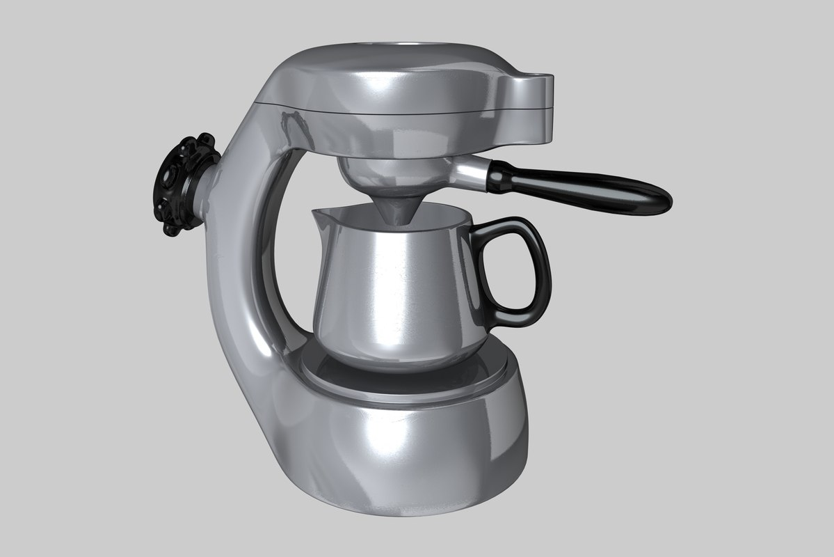 3d c4d atomic coffee maker