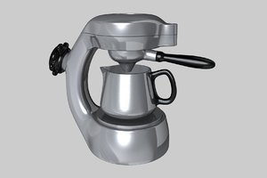 3d c4d atomic coffee maker