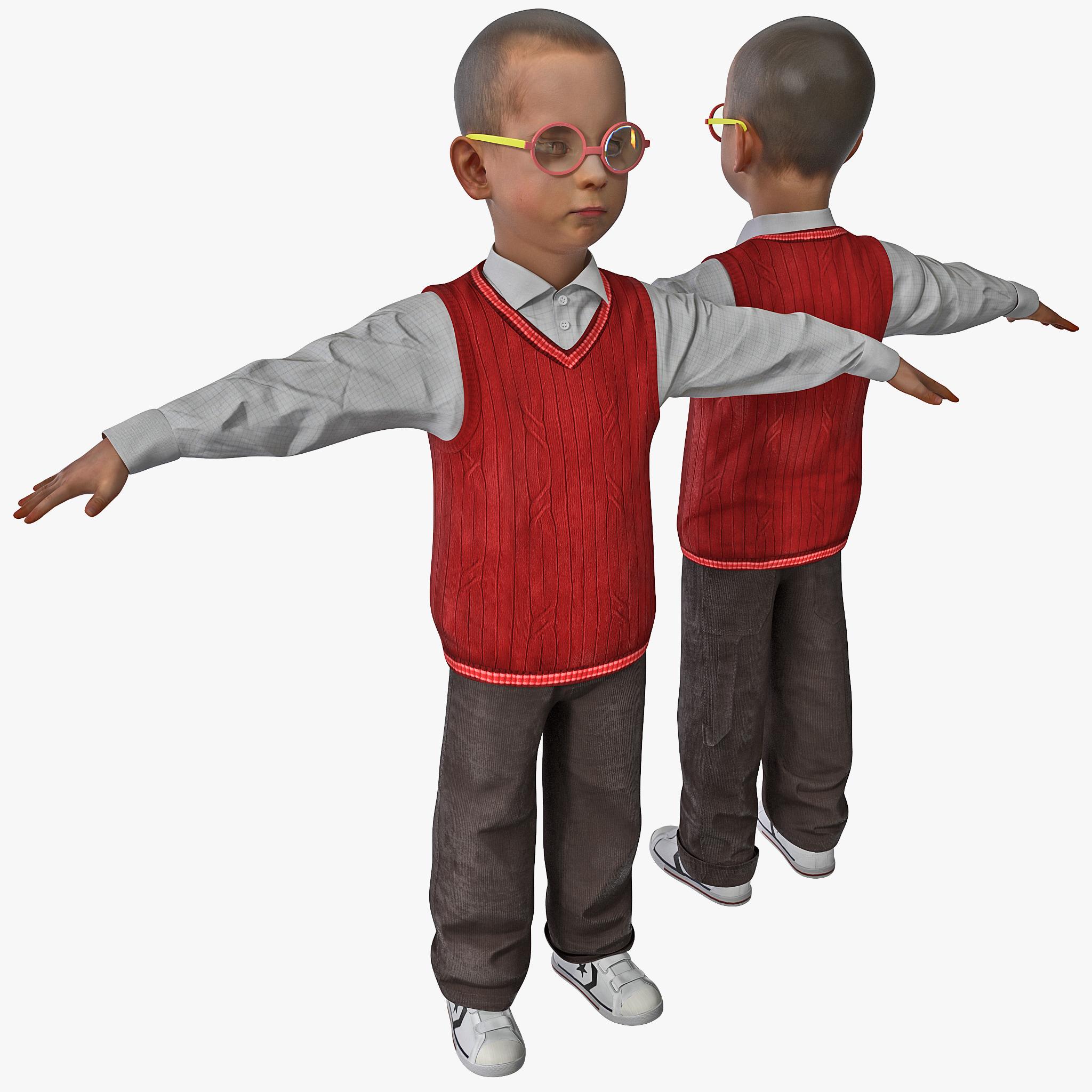 boy child kid 3d 3ds