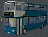double decker arriva bus 3d model