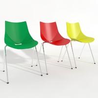 3d shell chair model